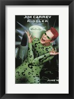 Framed Batman Forever Jim Carrey as Riddler