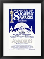 Framed Amadeus 8  Academy Awards