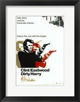 Framed Dirty Harry Pop Art