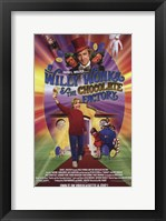 Framed Willy Wonka and the Chocolate Factory - holding golden ticket