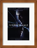 Framed Unbreakable movie poster
