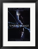 Framed Unbreakable movie poster