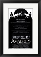Framed Amadeus Black and White