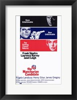 Framed Manchurian Candidate Frank Sinatra Laurence Harvey Janet Leigh