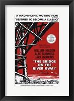 Framed Bridge on the River Kwai Black Red & White