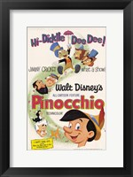 Framed Pinocchio Hi-Diddle Dee Dee!