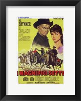 Framed Magnificent Seven Brynner Wallach McQueen