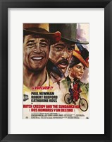 Framed Butch Cassidy and the Sundance Kid Drawing