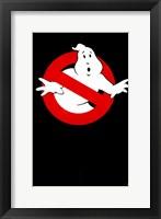 Framed Ghostbusters Blank Logo