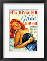Framed Gilda Rita Hayworth Glenn Ford