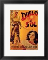 Framed Duel in the Sun Spanish