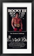 Framed Rocky 3 The Greatest Challenge
