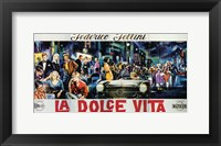 Framed La Dolce Vita Horizontal