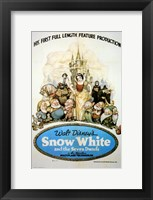 Framed Snow White and the Seven Dwarfs