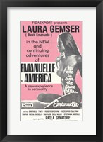 Framed Emmanuelle in America, c.1979 - style B