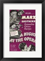 Framed Night At the Opera Marx Brothers