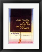 Framed Love in the Afternoon - Gary Cooper