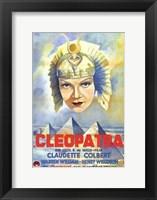 Framed Cleopatra Claudette Colbert