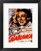 Framed Casablanca Ingrid Bergman