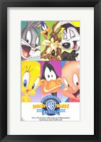 Framed Warner Brothers Looney Tunes Cartoon Characters