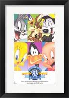 Framed Warner Brothers Looney Tunes Cartoon Characters