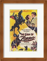 Framed Sign of Zorro