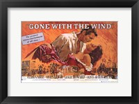 Framed Gone with the Wind  Horizontal Close Up
