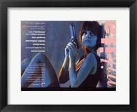 Framed La Femme Nikita - Woman sitting against a wall
