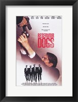 Framed Reservoir Dogs Shooting Movie Poster