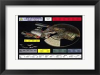Framed Star Trek: The Next Generation - NCC-1701-D cutaway