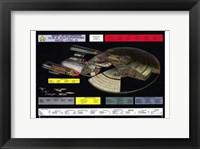 Framed Star Trek: The Next Generation - NCC-1701-D cutaway