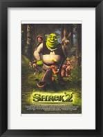 Framed Shrek 2 Cast