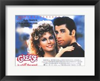 Framed Grease Travolta & Newton-John