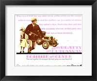 Framed Bonnie and Clyde Pink