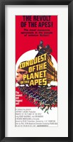 Framed Conquest of the Planet of the Apes Mcdowall And Murray