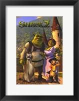 Framed Shrek 2 Family