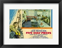 Framed Five Easy Pieces Jack Nicholson