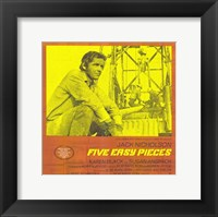 Framed Five Easy Pieces Yellow Orange