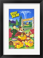Framed Yogi Bear - cartoon