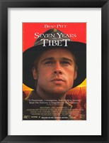 Framed Seven Years in Tibet Brad Pitt