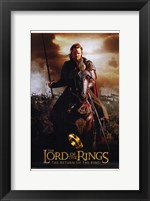 Framed Lord of the Rings: Return of the King Riding on Horse