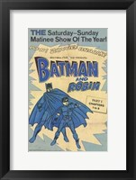 Framed Batman and Robin Vintage
