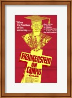 Framed Doctor Frankenstein on Campus