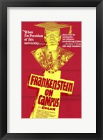 Framed Doctor Frankenstein on Campus