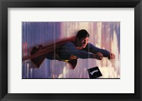 Framed Superman: the Movie Flying in the Sky
