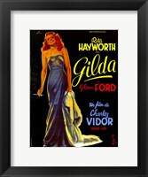 Framed Gilda Rita Hayworth French