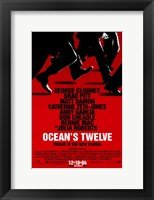 Framed Ocean's Twelve Red