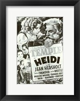 Framed Heidi Black And White Film Poster