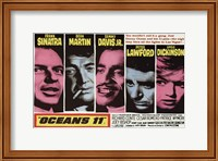 Framed Oceans 11 Pink & Blue