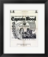 Framed Captain Blood Newspaper Ad